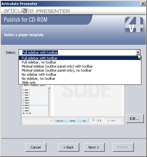 09 publishing for cd using templates